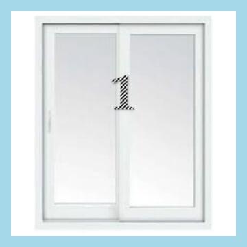 (2) PANEL SLIDING DOOR