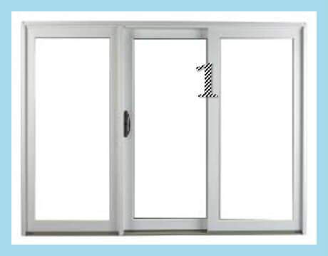 (3) PANEL SLIDING DOOR