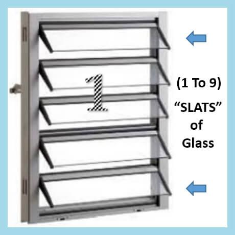 JALOUSIE WINDOW (Reg Size)