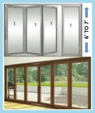REG SIZE COLLAPSING DOOR PANELS